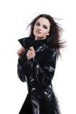 Het meisje van Nice in mantel royalty-vrije stock foto