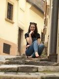 Het meisje van Nice het stellen Stock Foto