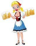 Het meisje van Oktoberfest Royalty-vrije Stock Afbeeldingen