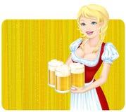 Het meisje van Oktoberfest Stock Foto's