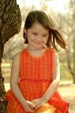 Het Meisje van Organge van kinderen Stock Afbeeldingen
