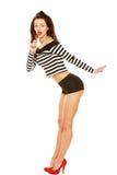 Het meisje van Pinup met lolly stock fotografie