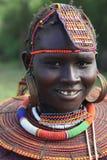 Het meisje van Pokot stock fotografie