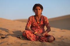 Het meisje van Rajasthani royalty-vrije stock foto