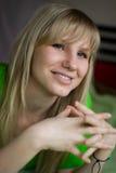 Het meisje van Smiley Stock Afbeelding
