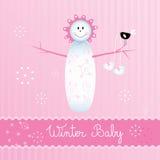 Het meisje van Snowbaby Stock Afbeelding