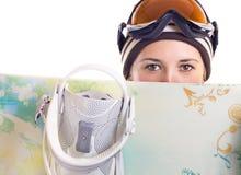 Het meisje van Snowboard Royalty-vrije Stock Foto's
