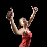 Het meisje van sporten Royalty-vrije Stock Afbeelding