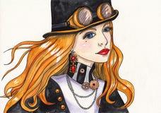 Het Meisje van SteamPunk Stock Foto