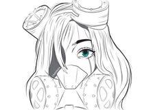 Het Meisje van SteamPunk royalty-vrije illustratie