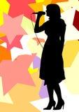 Het meisje van sterren vector illustratie