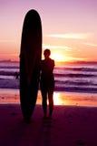 Het meisje van Surfer Stock Fotografie