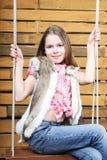 Het meisje van tien jaar Stock Foto