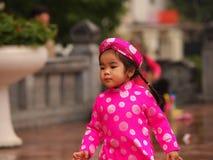 Het meisje van Vietnam Stock Afbeelding