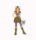 Het meisje van Viking Royalty-vrije Stock Foto's