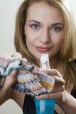 Het meisje van Windex Royalty-vrije Stock Afbeelding