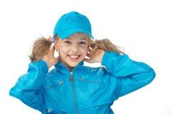 Het meisje van Yong in blauw GLB Stock Afbeeldingen