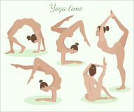 Het meisje in yoga stelt royalty-vrije stock afbeelding