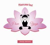 Het meisje in yoga stelt zitting in lotusbloem 8 Royalty-vrije Stock Foto