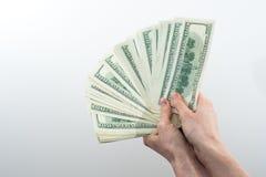Het meisje zei ter beschikking 10000 dollars Royalty-vrije Stock Foto