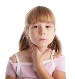 Het meisje is ziek Royalty-vrije Stock Foto's