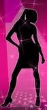 Het meisjes dansende koningin van de disco Stock Afbeelding