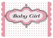 Het meisjesaankomst van de baby Royalty-vrije Stock Afbeeldingen