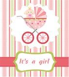 Het meisjesaankomst van de baby Stock Fotografie