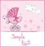 Het meisjesaankomst van de baby Royalty-vrije Stock Foto's
