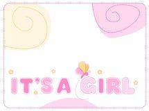 Het meisjesaankondiging van de baby royalty-vrije illustratie