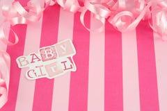 Het meisjesachtergrond van de baby Stock Fotografie