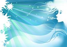 Het meisjesachtergrond van de winter voor wintertijd Stock Afbeelding
