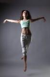Het meisjesdans van de schoonheid Stock Afbeeldingen