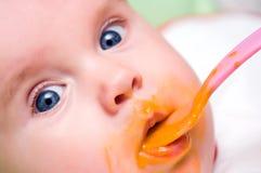 Het meisjeseetlust van de baby Royalty-vrije Stock Afbeelding