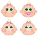 Het meisjesgezicht van de baby Royalty-vrije Stock Afbeelding