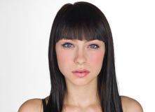 Het meisjesgezicht van de tiener Stock Fotografie