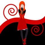 Het meisjesillustratie van de roodharige Royalty-vrije Stock Afbeeldingen