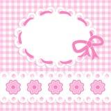 Het meisjeskaart van de baby Stock Foto's