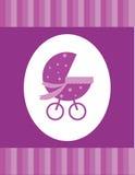 Het meisjeskaart van de baby Stock Afbeeldingen