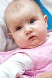 Het meisjesportret van de baby Stock Afbeeldingen