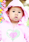 Het Meisjesportret van de baby Leuk Baby stock foto
