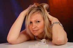 Het meisjesportret van de blonde royalty-vrije stock fotografie