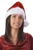 Het meisjesportret van de kerstman Stock Fotografie