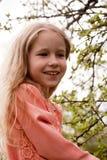 Het meisjesportret van de lente Stock Foto