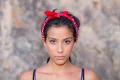 Het meisjesportret van de tiener stock fotografie