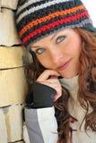 Het meisjesportret van de winter Stock Fotografie