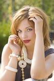 Het meisjesportret van Gingerish Stock Foto