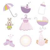 Het meisjespunten van de baby in vectorformaat worden geplaatst dat Stock Fotografie