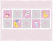 Het meisjesspeelgoed van de baby Stock Foto's