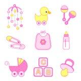 Het meisjestoebehoren van de baby stock illustratie